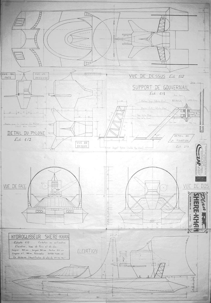 Graupner hydroplane plan | Heri